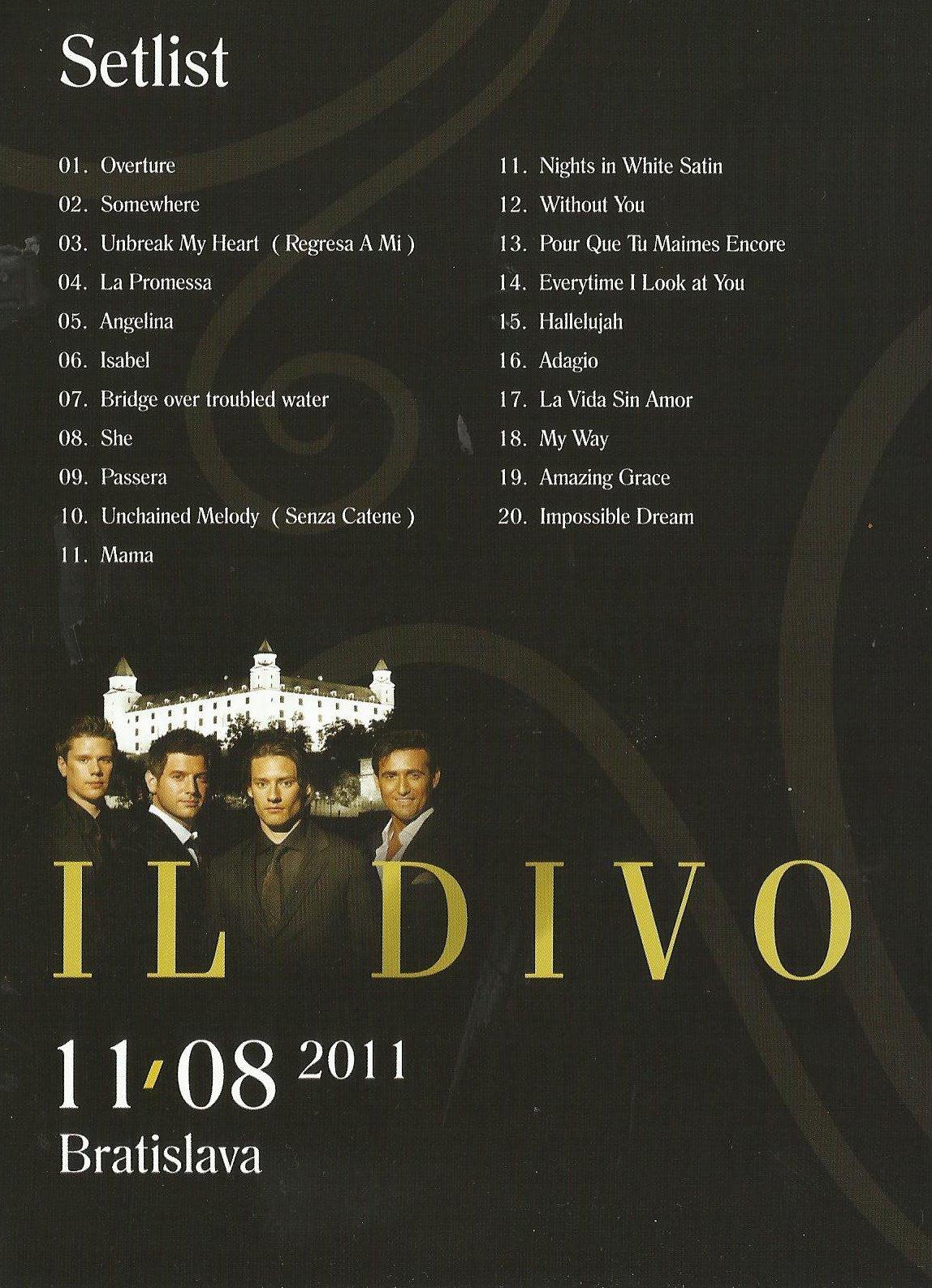 Il divo em bratislava concerto de 11 08 2011 renattha - Il divo la promessa ...