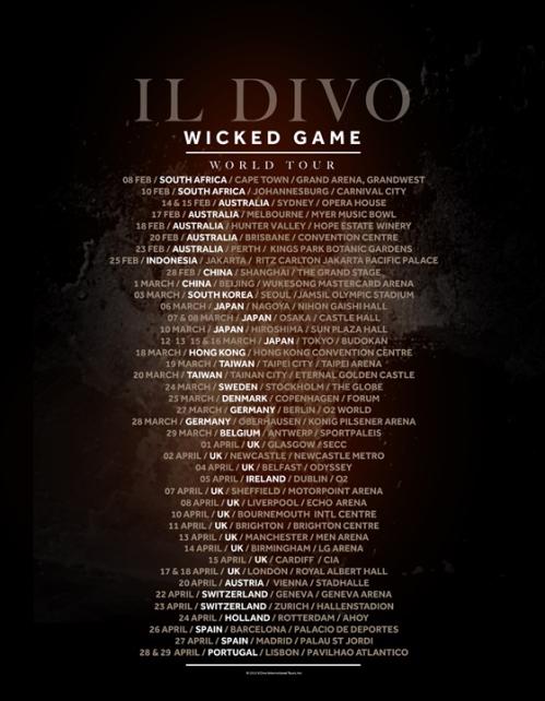 Il divo wicked game world tour renattha - Il divo tour dates ...